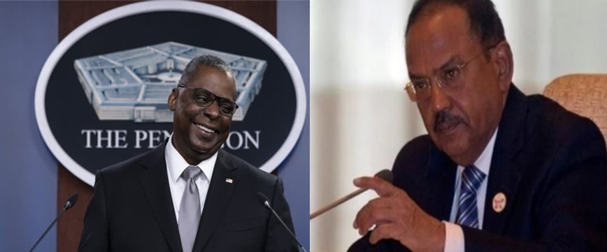 NSA Ajit Doval and US Defence Secretary Lloyd Austin to meet  on Friday, China and Regional Issues to be on Agenda