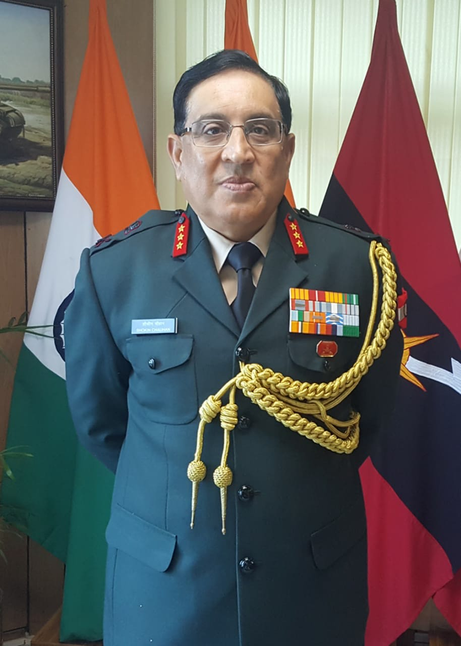 Lt Gen Shokin Chauhan, PVSM, AVSM, YSM, SM and VSM