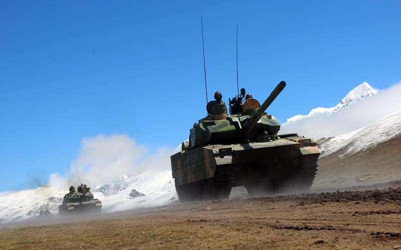 PLA Armour Offensive in Himalayas