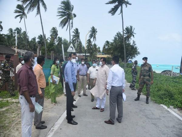 Lakshadweep Administrator visits Kavaratti, reviews development projects