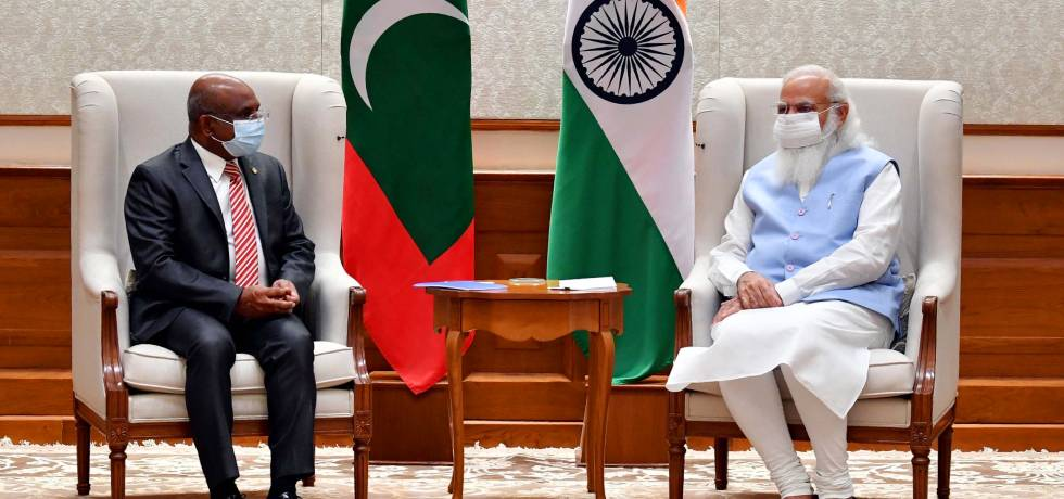President-elect of the 76th session of the United Nations General Assembly (UNGA) and Foreign Minister of the Maldives, H.E. Abdulla Shahid, called on Prime Minister Shri Narendra Modi today.