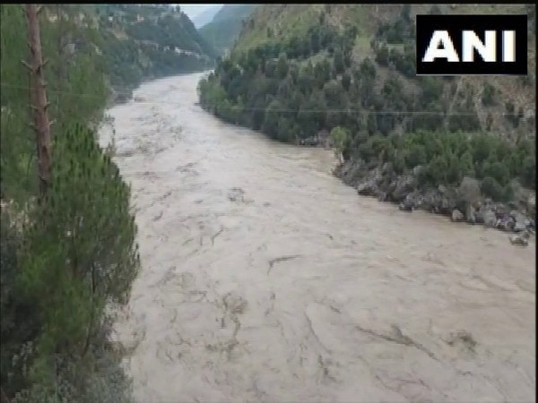 J-K: Chenab River water level rises due to heavy rainfall