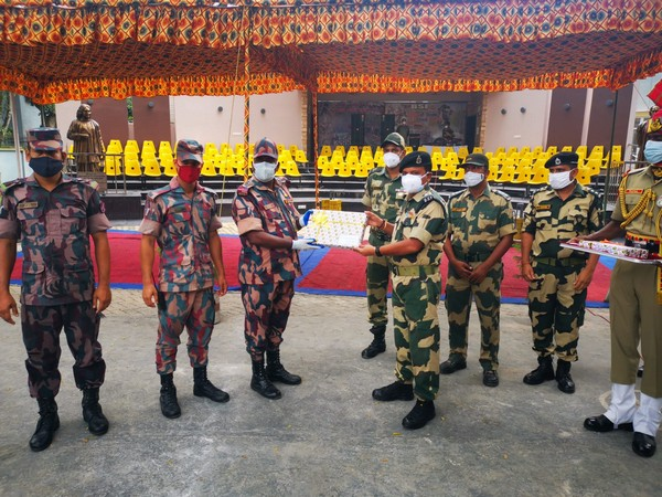 Independence Day: BSF exchanges sweets, greetings with Border Guard Bangladesh