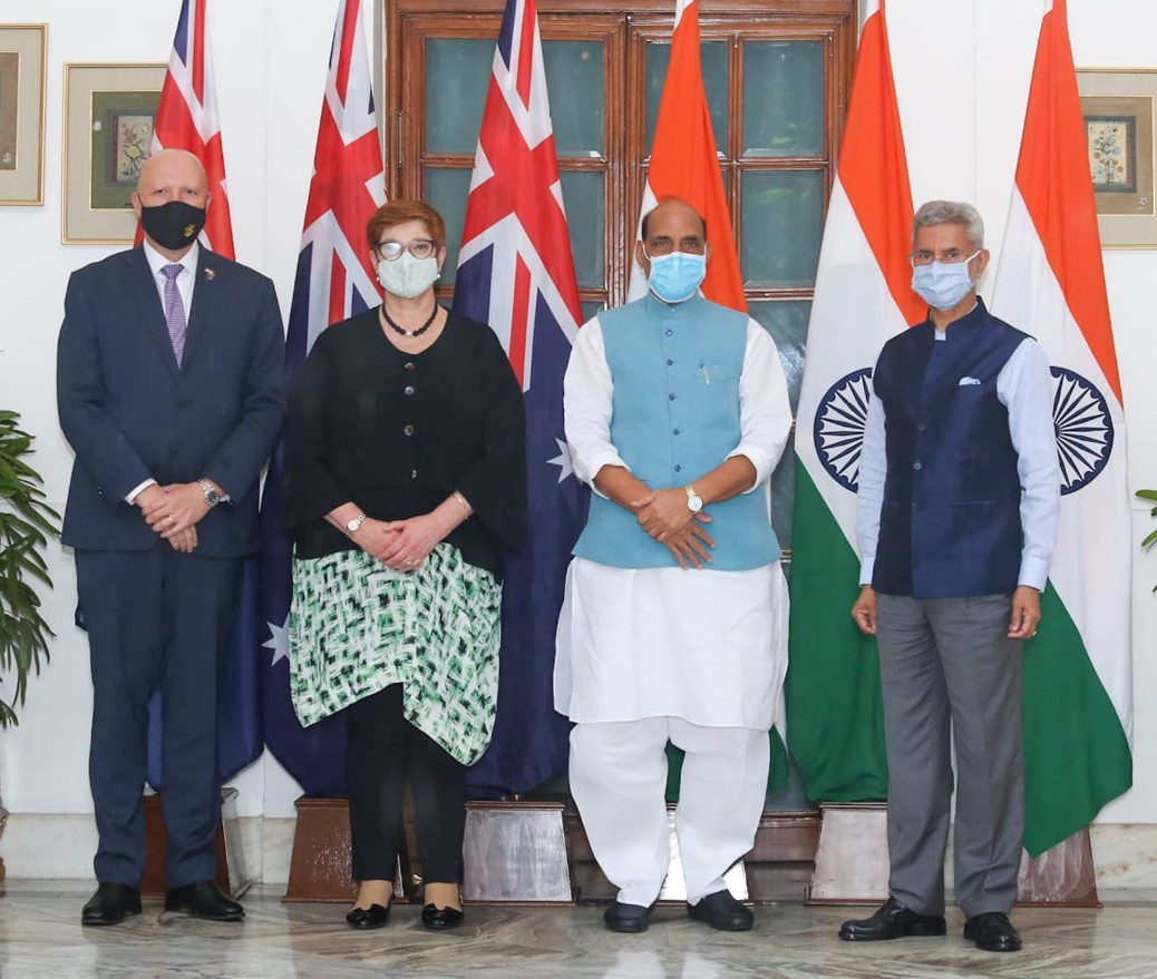 Press Statement of Raksha Mantri Shri Rajnath Singh after '2+2' Ministerial Dialogue between India & Australia