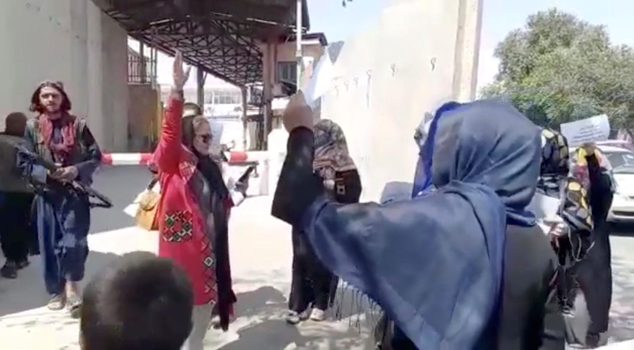 Taliban militants unleash violence on Afghan women protesters