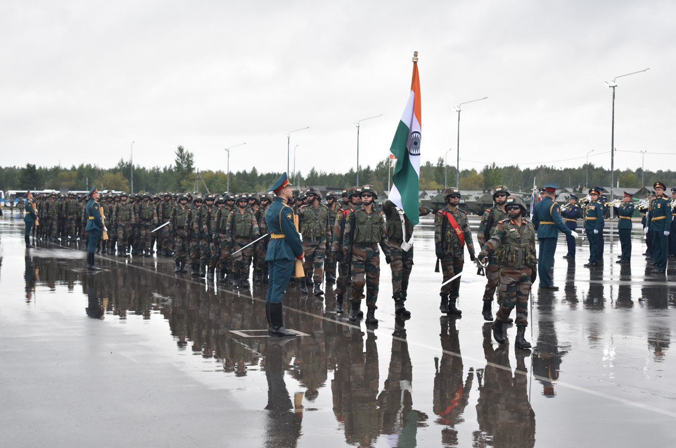 Opening Ceremony Exercise ZAPAD 2021 in Russia