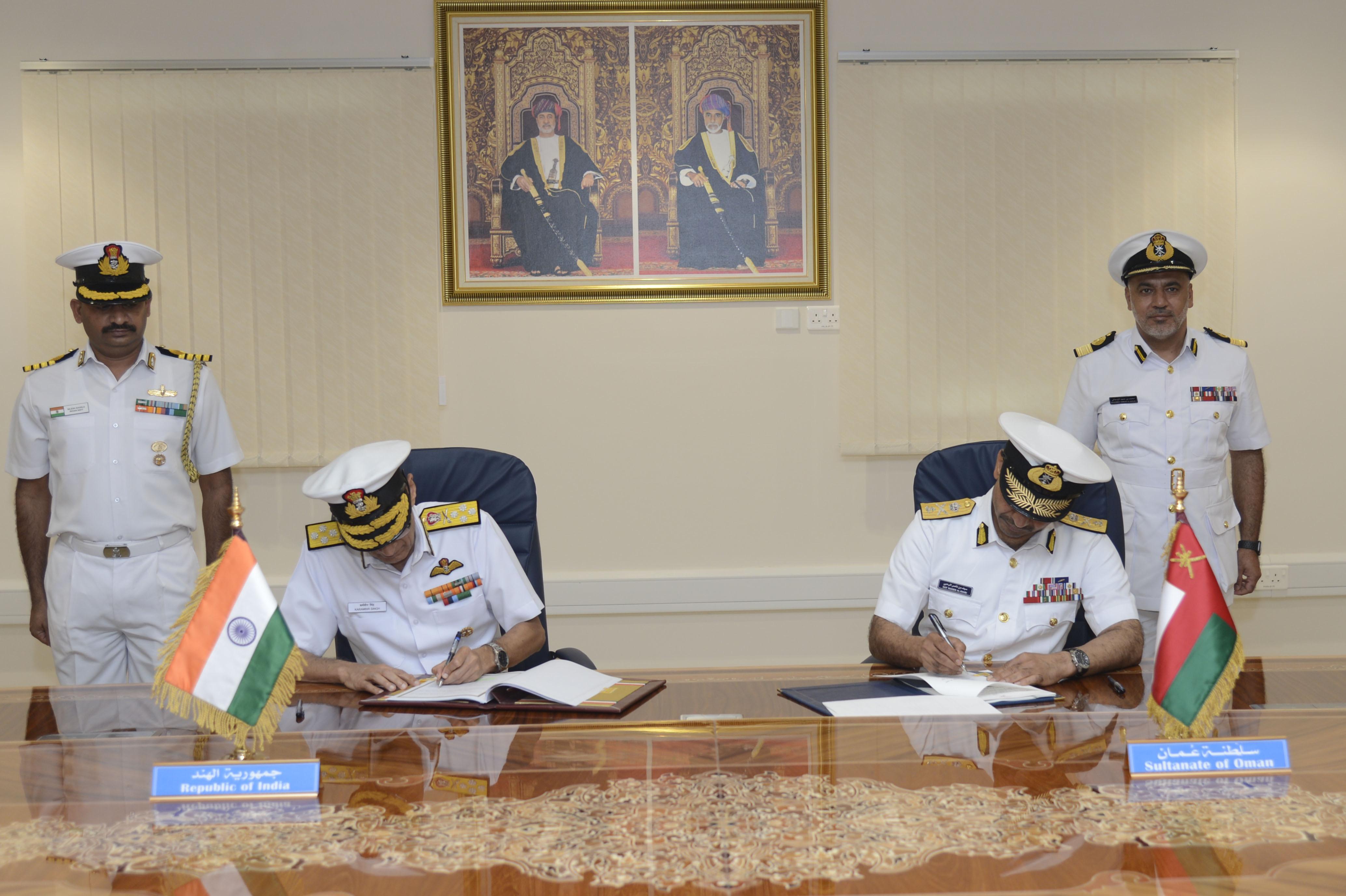 समुद्री सुरक्षा सहयोग बढ़ाने के लिए भारत, ओमान ने समझौते पर हस्ताक्षर किए