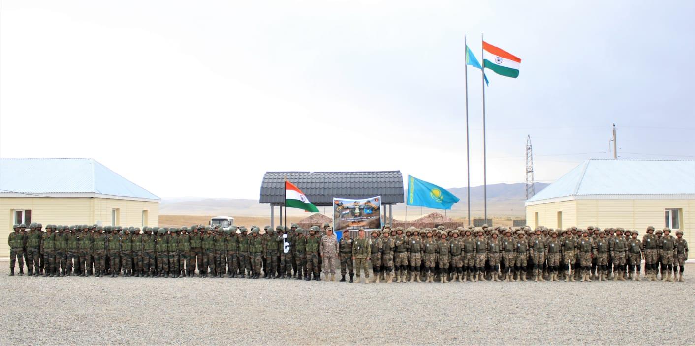 Closing Ceremony Indo-Kazhakstan Joint Taining Exercise KAZIND – 21