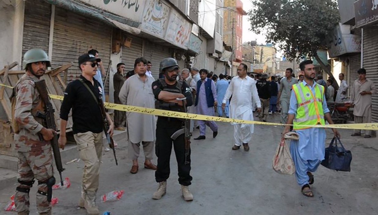 Three soldiers killed in suicide attack in southwest Pakistan