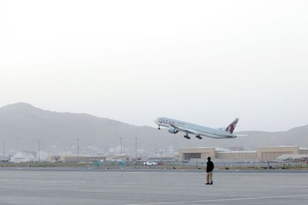 Plane carrying Afghans, U.S. and European citizens from Kabul arrives in Doha