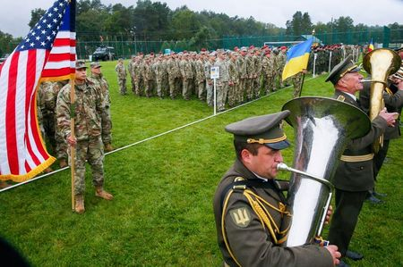 Ukraine holds military drills with U.S. forces, NATO allies