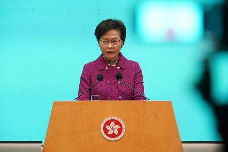 Hong Kong leader says Beijing has no timetable for anti-sanctions law