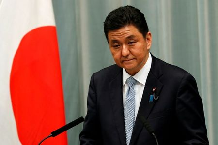 Japan defence minister hopes China-Taiwan tension can be resolved through talks