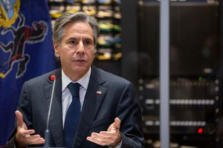 U.S.' Blinken talks European security cooperation with France's Macron