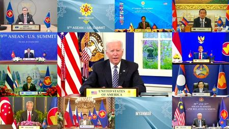 U.S. concerned by 'coercive' Chinese actions in Taiwan strait, Biden tells summit